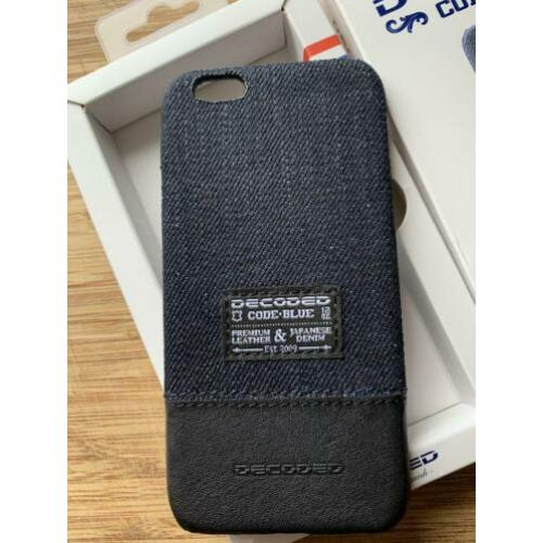Decoded I phone 6 hoesje premium leather en denim back cover
