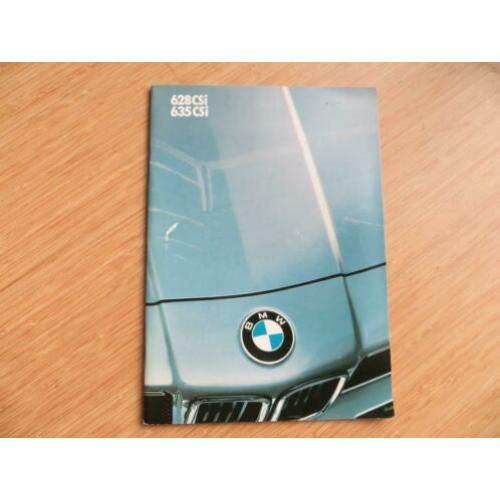 Folder BMW 628 CSi, BMW 635 CSi 1985, 54 blz.